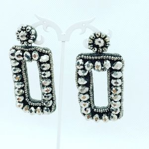 Beaded brop earrings, boho statement jewel…